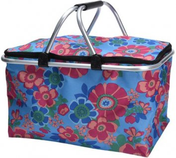 Shoppingkorg blommig 48x28x25